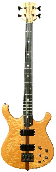 "34 inch long scale 4 string ""cresting wave"" bass"