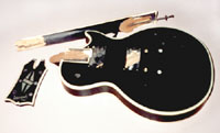 Shattered Les paul