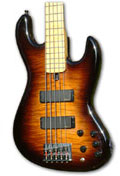 34 inch long scale 5 string Jazz style bass