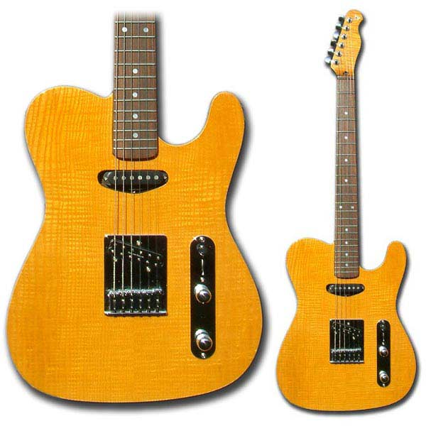 Flame maple tele style 6-string