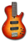 34 inch long scale 5 string Les Paul style bass