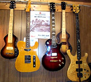 A selection of Andy Viccars Custom Instruments